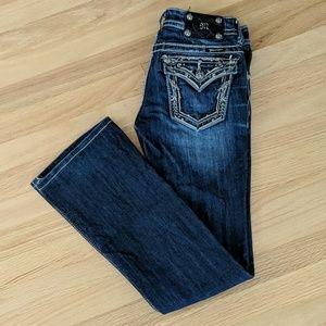 Miss Me boot cut dark wash jean